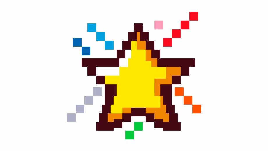 star #bling #rainbow #colorful #cute #8bits #pixel.