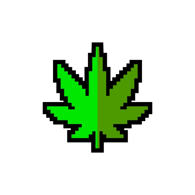8bit Cannabis Cute Logo Design, Clean, Clever, Cute PNG and Vector.