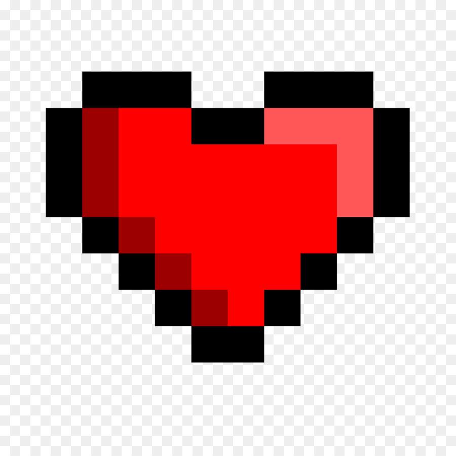Heart Pixel Art.