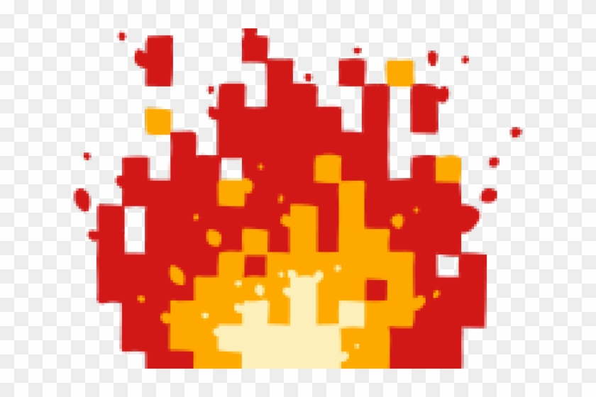 8 Bit Fire Ball, HD Png Download.