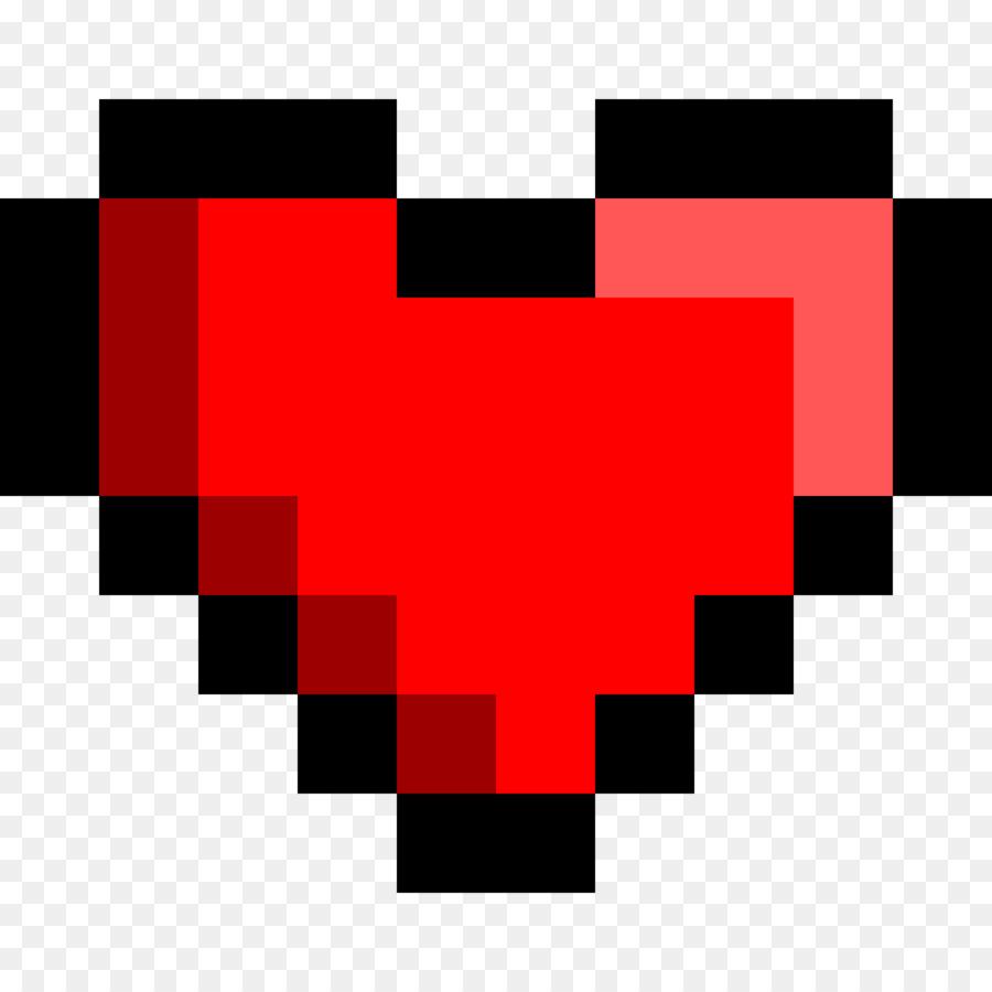 Heart Pixel Art png download.