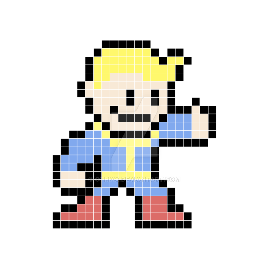 Vault boy 8 bit png by otrixx on DeviantArt.