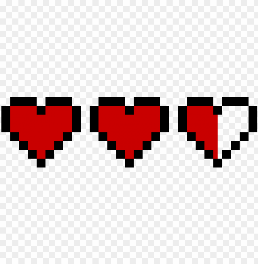 8 bit heart zelda PNG image with transparent background.