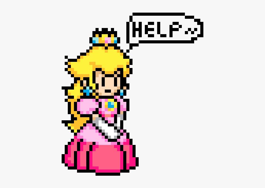 Princess Peach 8 Bit, HD Png Download.