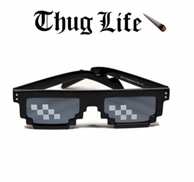 8 bit sunglasses , Free png download.