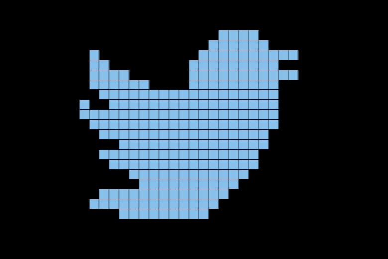 Twitter Logo Pixel Art.