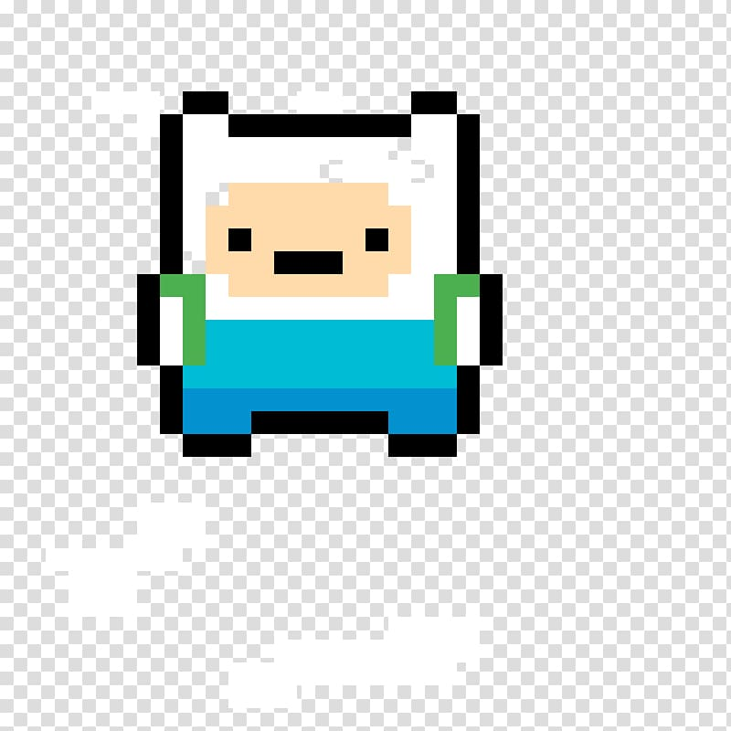 Pixel art Jake the Dog 8.