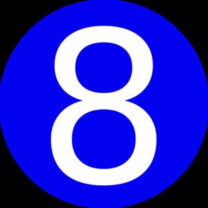 Number 8 Clip Art.