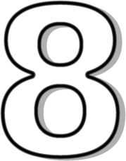 images of number 8.