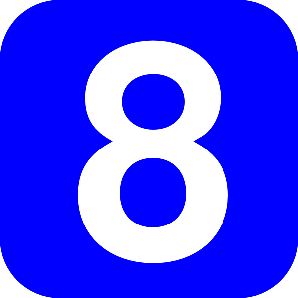 Number 8 Clipart.