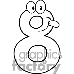 Eight clipart black and white 2 » Clipart Station.