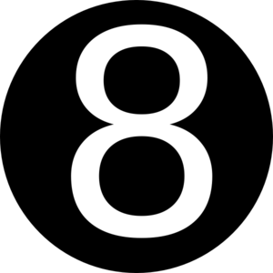 Black, Rounded,with Number 8 Clip Art at Clker.com.