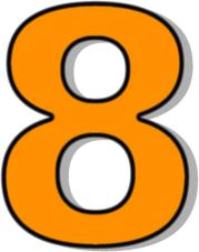 Number 8 Orange Clip Art Download.