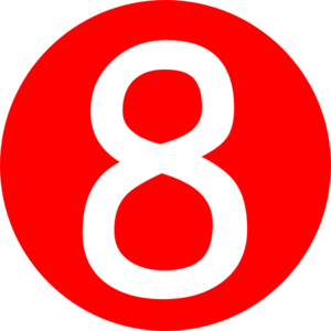 Red, Rounded,with Number 8 Clip Art at Clker.com.