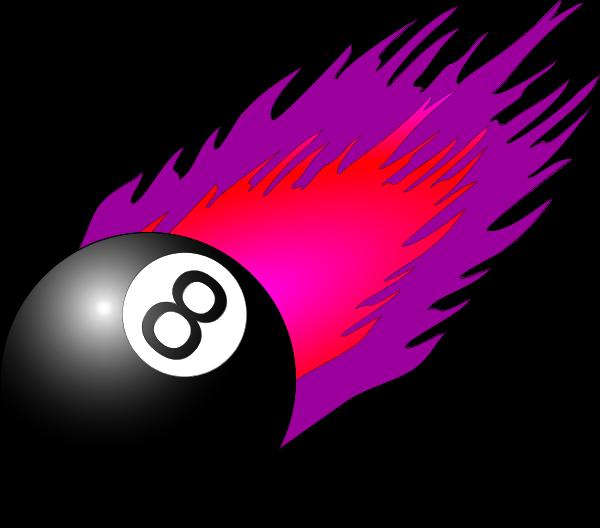 Flame 8 Ball Clip Art Image Free.