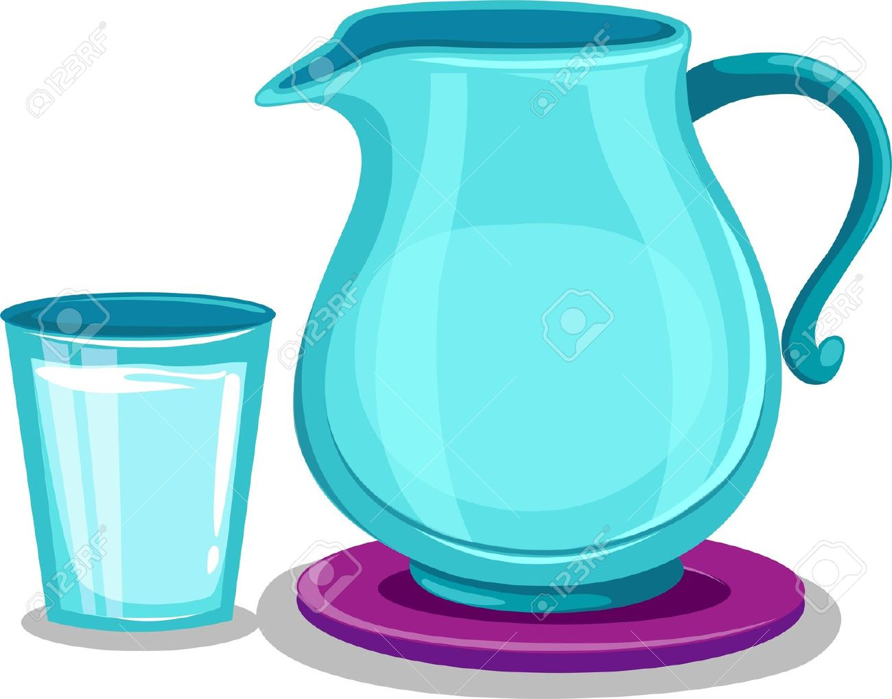 8 Cups Of Water Clipart