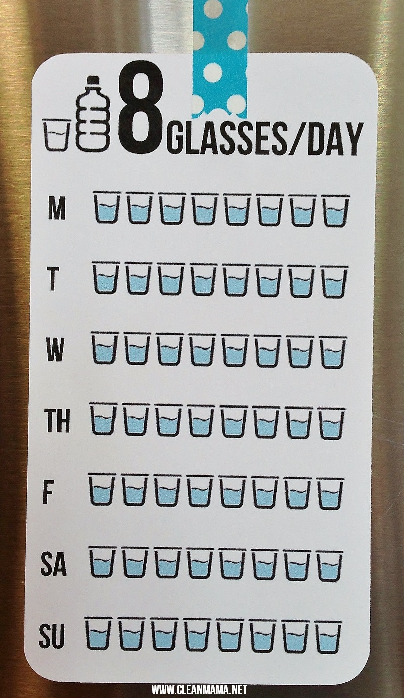 8 Cups Of Water Clipart.