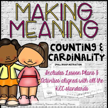 Counting and Cardinality Lesson Plans and Activities.