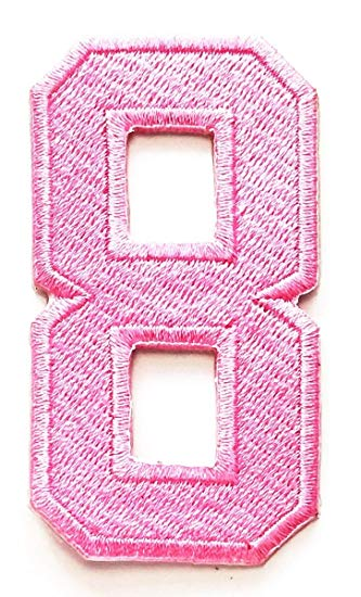 Amazon.com: Number 8 Numeral Math Counting Eight School Pink.