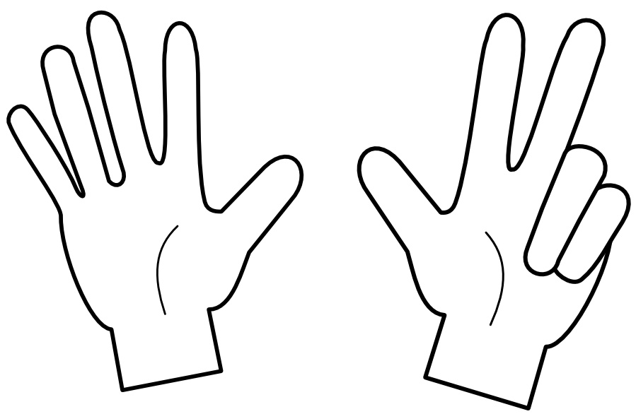 8 Fingers Clipart.