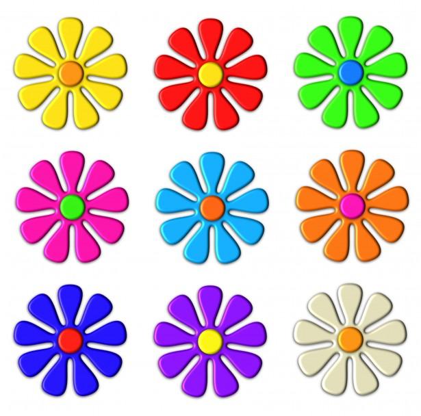 3d Flower Clip Art Free Stock Photo.