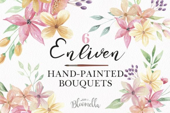 Watercolour Floral Clipart.