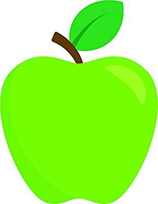 Simple Teacher\'s Apple Cartoon Emoji Vinyl Sticker (8\