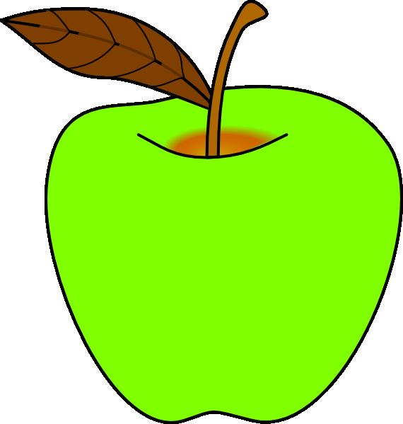 Green Apple Clip Art at Clker.com.