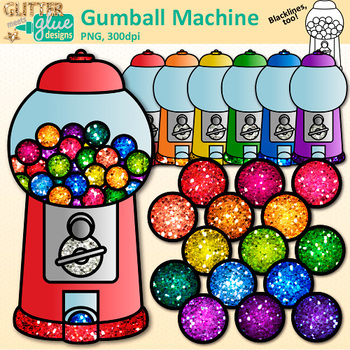 Gumball Machine Clip Art: Counting & Sorting Graphics {Glitter Meets Glue}.