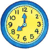 School hours clipart.
