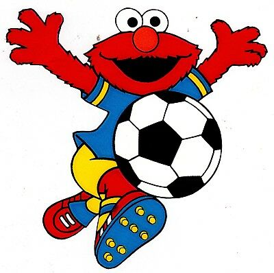 Elmo wall safe sticker sesame street sports soccer border cut out 5\