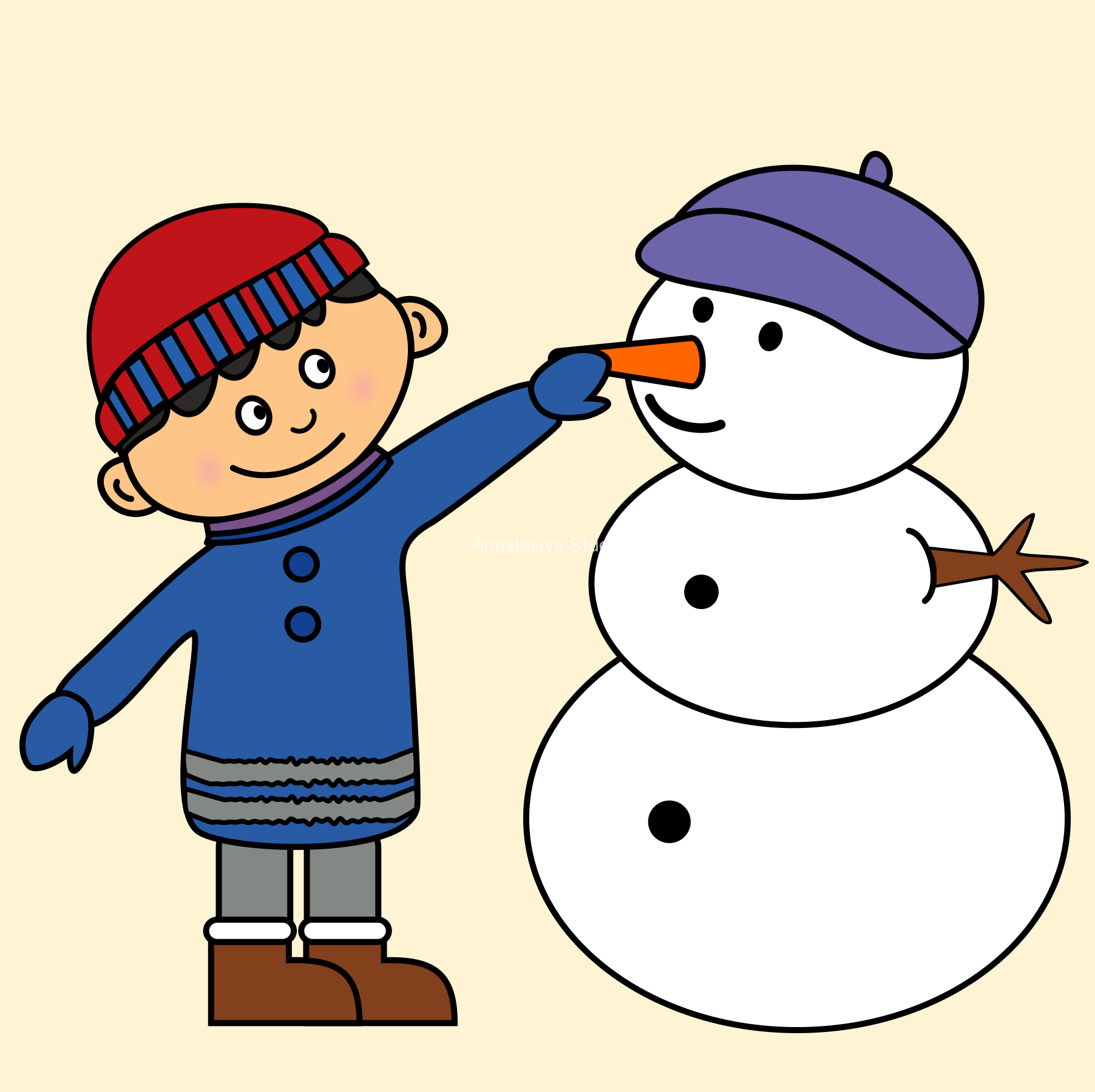 Winter Kids Clipart.