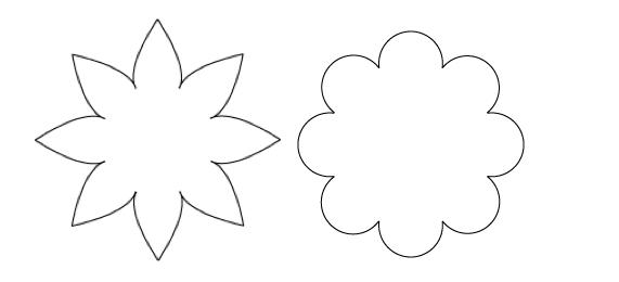 Free Eight Petal Flower Template, Download Free Clip Art.