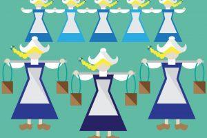 8 maids a milking clipart 5 » Clipart Portal.