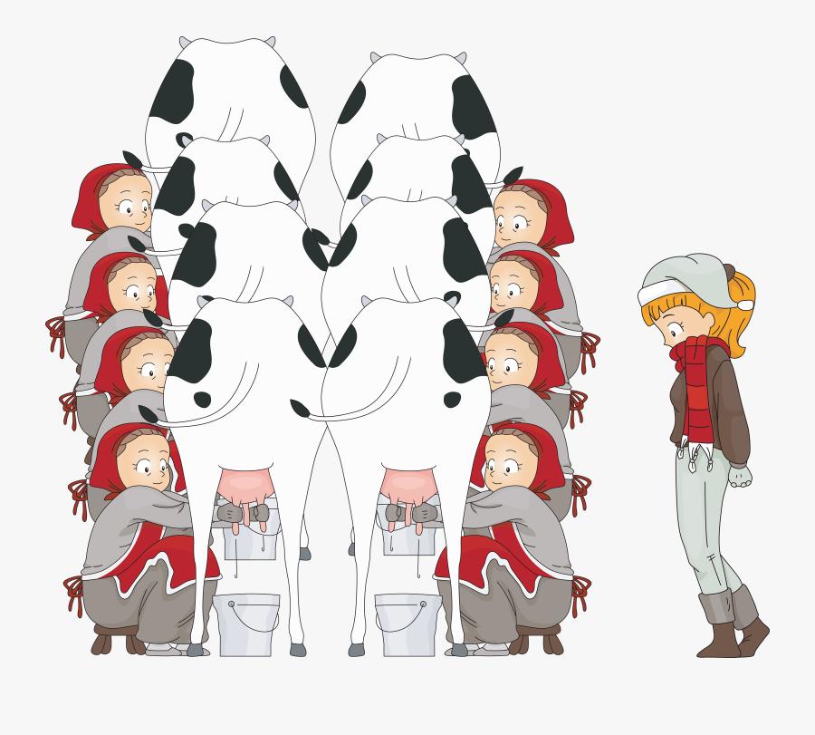 8 Maids Milking.