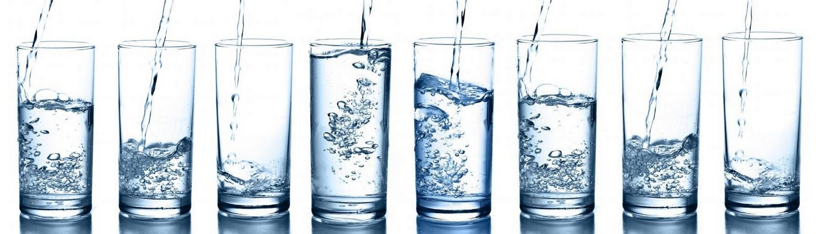 8 Glasses Of Water Clipart.
