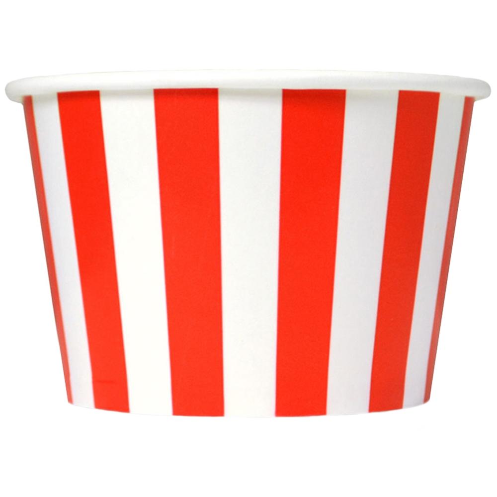 UNIQ™ 8 oz Red Striped Madness Ice Cream Cups.