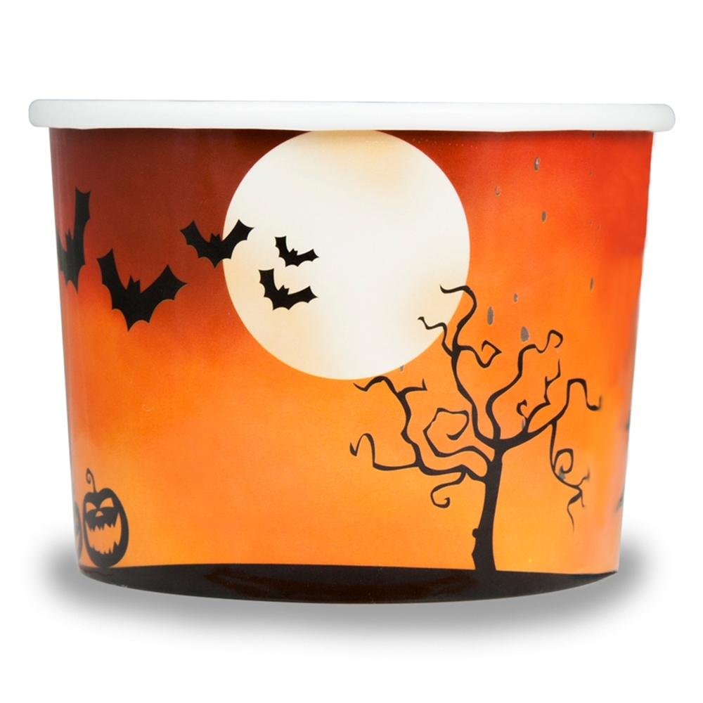 UNIQ™ 8 oz Spooky Halloween Ice Cream Cups.