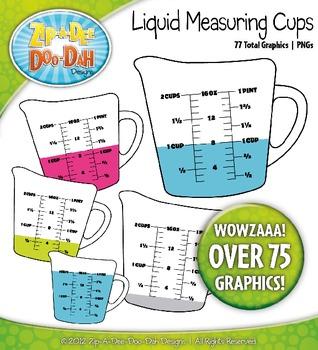 Liquid Measuring Cups Clipart.