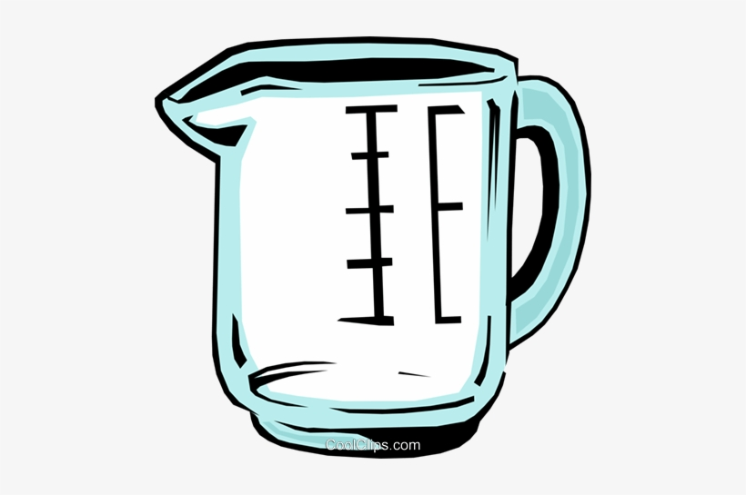 Measuring Cup Royalty Free Vector Clip Art Illustration.