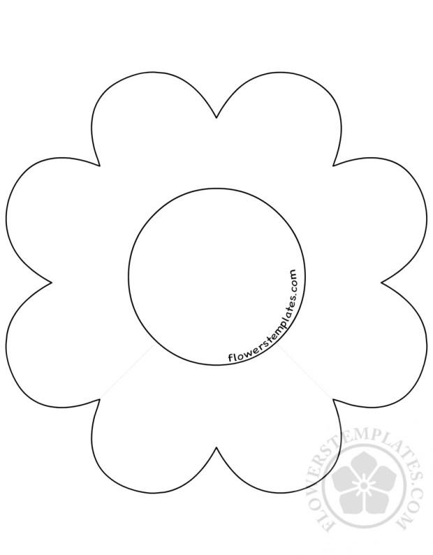 8 Petal Flower Template.