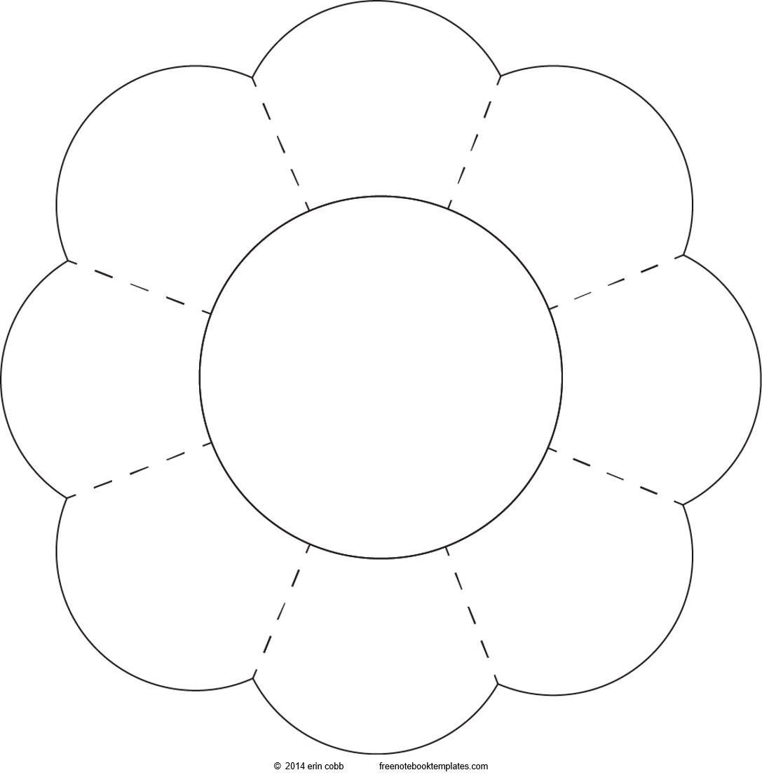 8 Petal Flower Clipart.