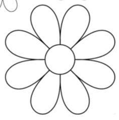 8 Petal Flower Template 1.