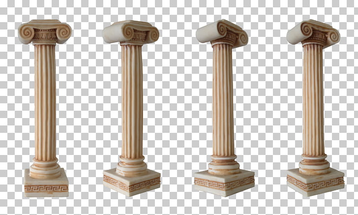 Column Classical order, Column , four brown post columns PNG.