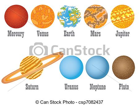 Planets In Order Clipart #1.
