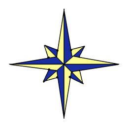 Compass Rose Drawings.