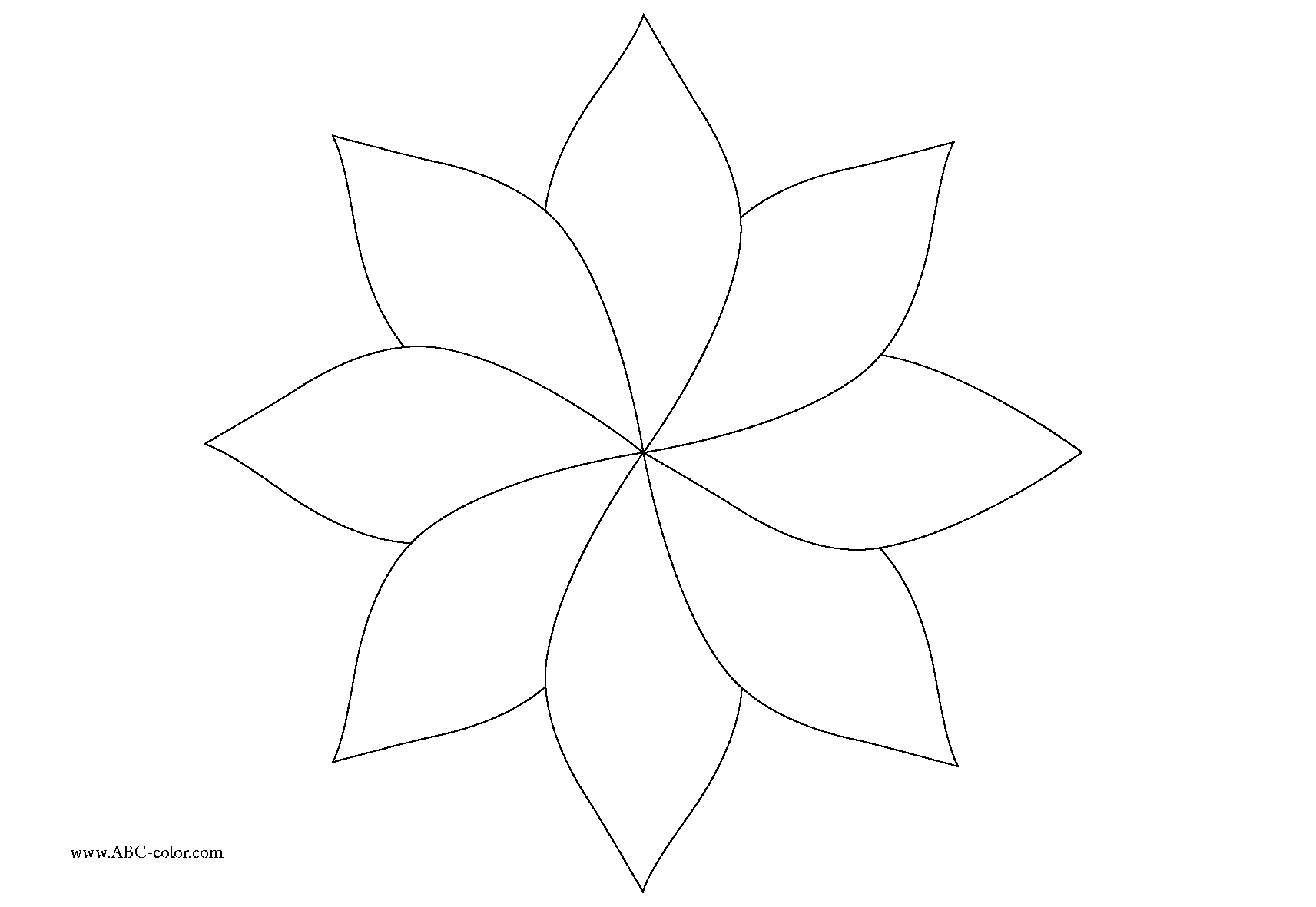 8 point flower clipart clipart images gallery for free.