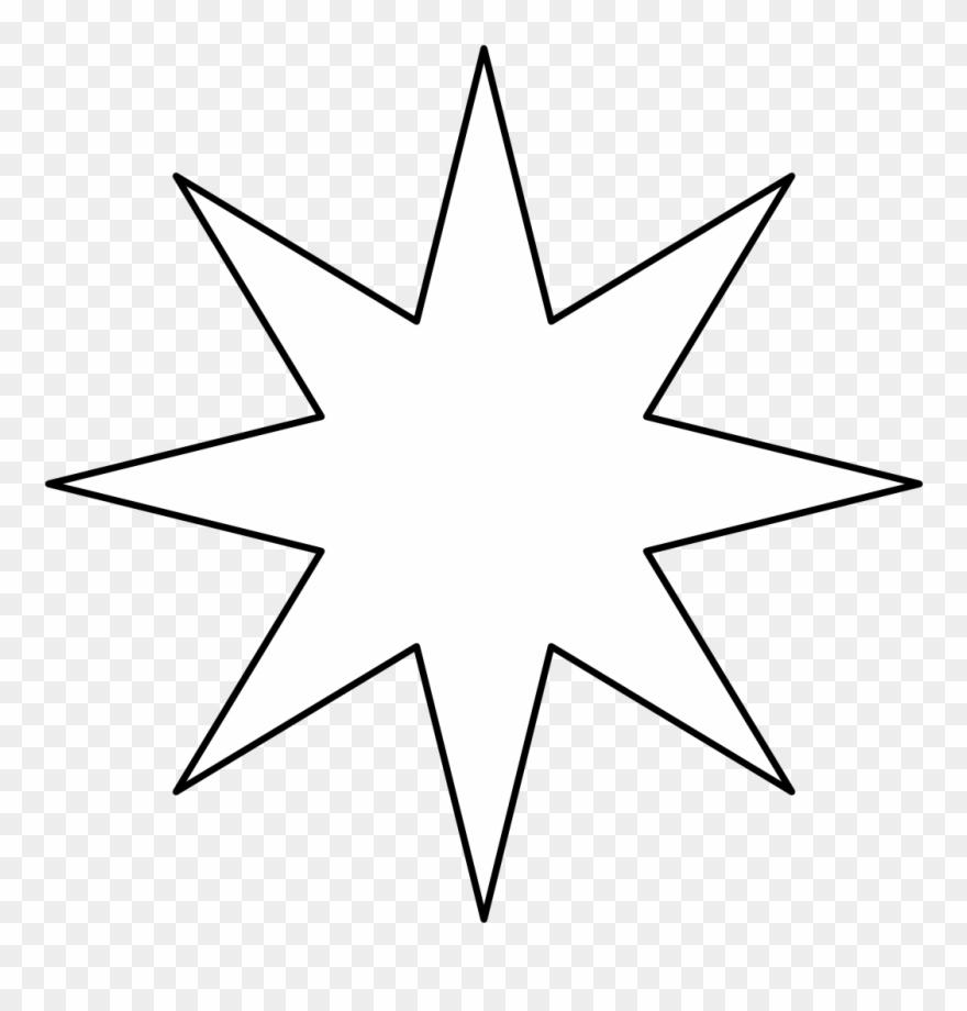 8 Point Star Black Void Clipart (#2221670).