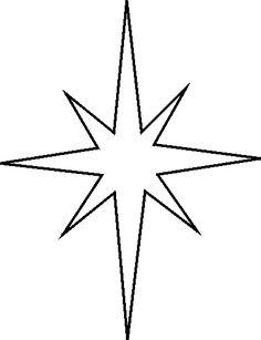 8 Point Star Clipart.