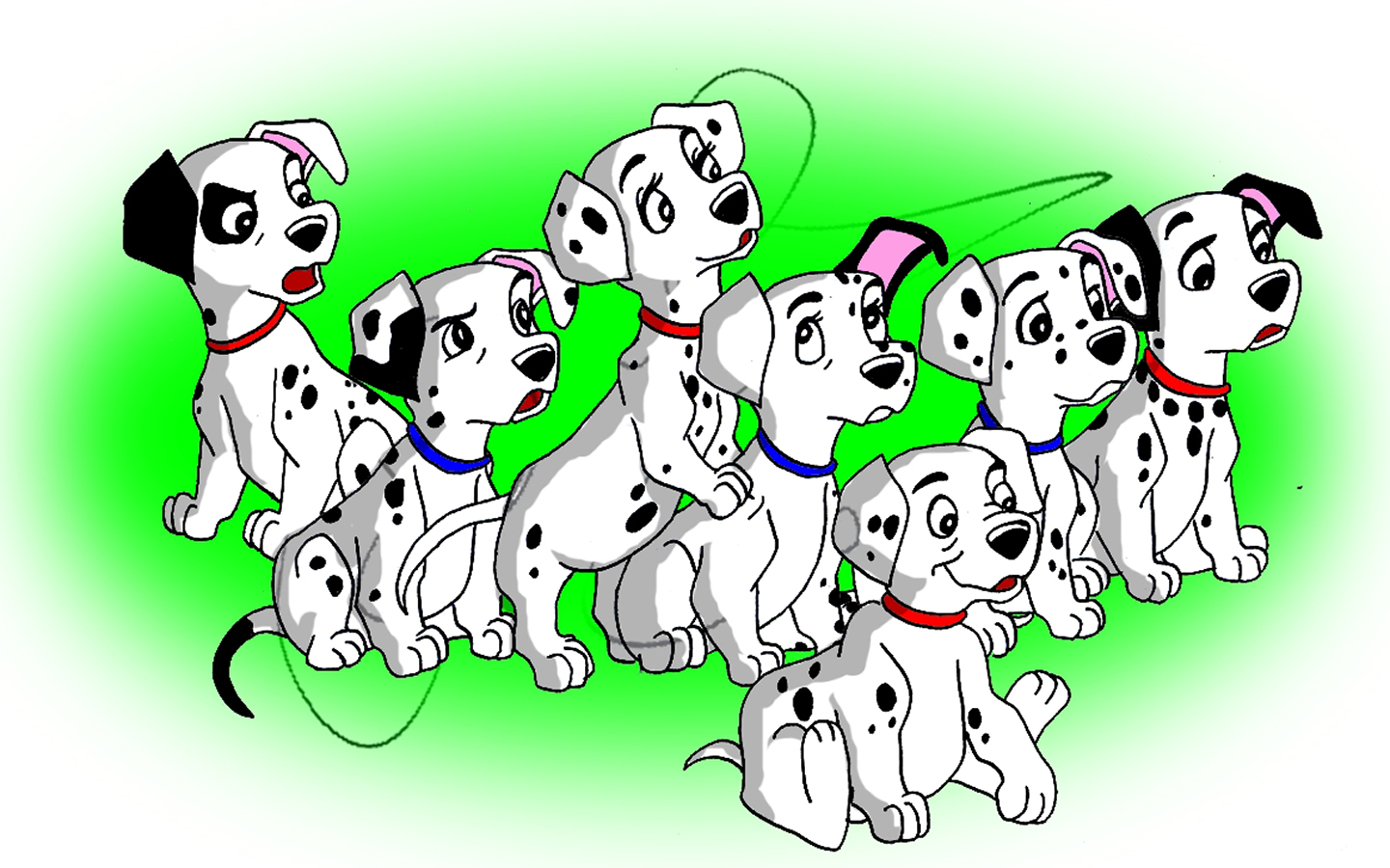 Dalmatian Puppies Clipart page 6 from Disney\'s 101.